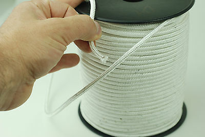 4 mm Extra Strong Twist Polyester Rope White Polystyrene Braide Nylon Para Cord
