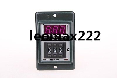 New Black AC 110V Power on Delay Timer Time Relay 1-999 Minute 8 Pins ASY-3D