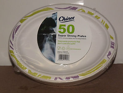 Chinet 50 Oval Super Strong Plates 19cm Sealed NEW BBQ Party 50 plates x 1