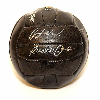 * New *  Escape to Victory Vintage Style Replica Football signed by 8.