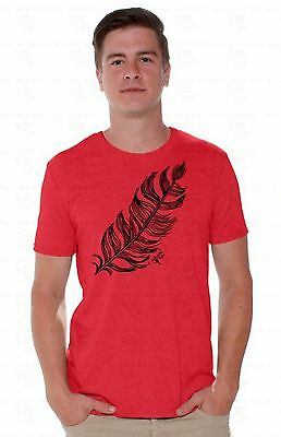 Feather Mens T-SHIRT Lucky Gift Native American Southwest Tribal Shirt A15