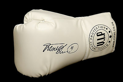 Frank Bruno Hand Signed White Vip Boxing Glove