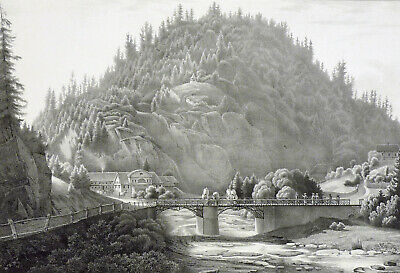 RÜBELAND - Marmormühle - Selten! - Lithographie 1828