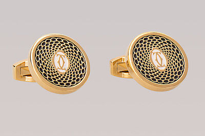 cartier designer niwq  Cartier Cufflinks Mens fashion designer dress shirt Gold plated