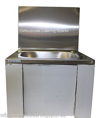 Easi-Wash Stainless Steel Knee Operated Sink 420 x 400 x 600mm With Tap