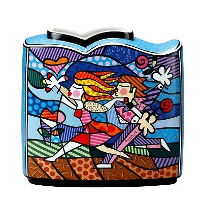 "ROMERO BRITTO - MIAMI POP ART ""LOVE BLOSSOMS"" Tischvase Goebel Porzellan NEU !!"