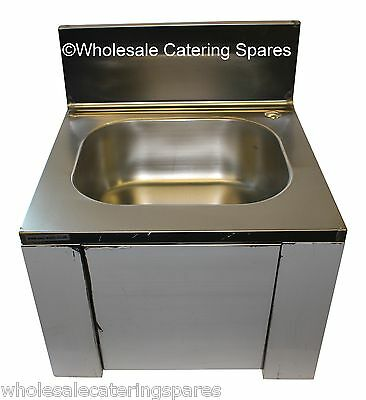 Easi-Wash Stainless Steel Knee Operated Sink With Tap 420 x 400 x 450mm