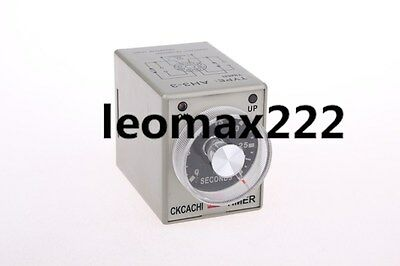 DC 24V Power ON Delay Timer Time Relay 0-30 Second AH3-3 8 Pins Hot