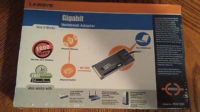 Linksys-Cisco 10/100/1000 PCM1000 Gigabit Notebook Adapter *NEW* FREE SHIPPING