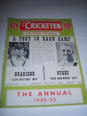The Cricketer Magazine Winter Annual 1949/50 - Yorkshire / Middlesex / England