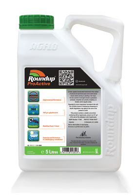 Roundup Pro Biactive 360 Strong Glyphosate Professional Weedkiller 5 Ltr Weeds