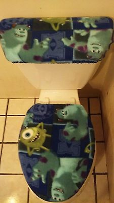 Terrific Monster Inc Mike And Sully Fleece Toilet Seat Cover Set Caraccident5 Cool Chair Designs And Ideas Caraccident5Info