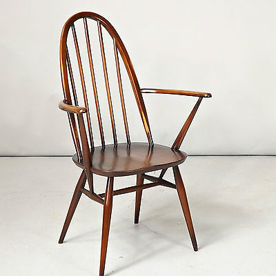 Carver / Dining Chair - Ercol, Quaker, Solid Elm, Retro (delivery available)