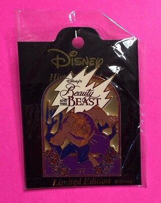 Beauty & The Beast 1991, History of Art (HOA) Stained Glass Disney Pin LE2700