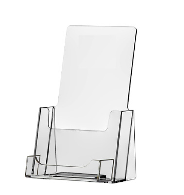 New One Piece Design 25 Clear Brochure holders with business card holder