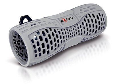 Axess SPBW1035-GY Portable Waterproof Bluetooth Loud Speaker System with Mic