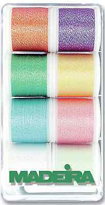 Madeira 'Opal' 8010 Embroidery Box With 8 Metallic Bobbins Of 200 M Each