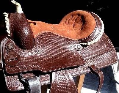 western tack trail pleasure cowboy rodeo leather western saddle matching tack