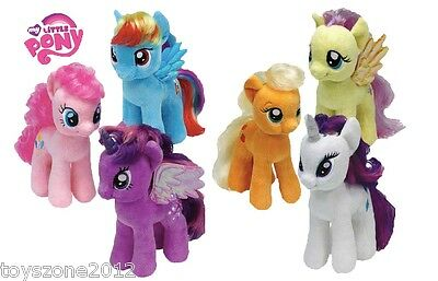 TY    SETS of 6    My Little Pony Beanie Babies 8