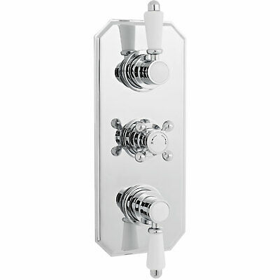 Premier Victorian Concealed Thermostatic Shower Valve Triple Handle - Chrome
