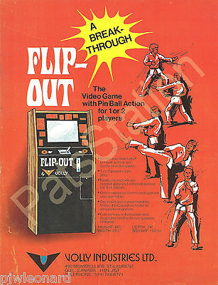 FLIP-OUT - 1975 Upright Volly Ind. Video Game Flyer