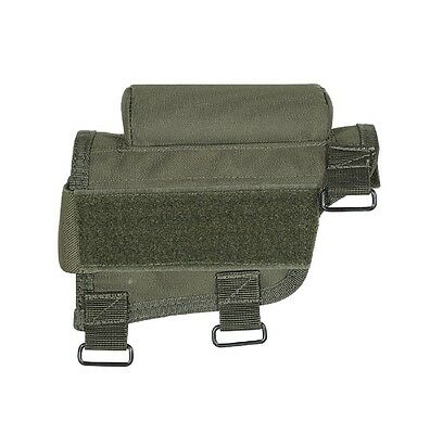 Voodoo Tactical Adjustable Cheek Piece Rest w/Ammo Carrier OD Green 20-942104000