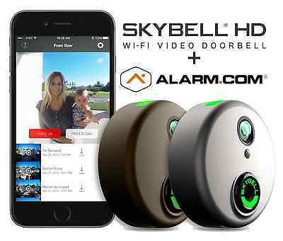 SkyBell HD Wi-Fi Doorbell Camera Alarm.com 1080p Color Night Vision