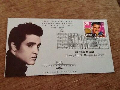 Elvis Presley First Day Of Issue Stamp Rca Limited Edition Envelope Jan 8, 93 Tn