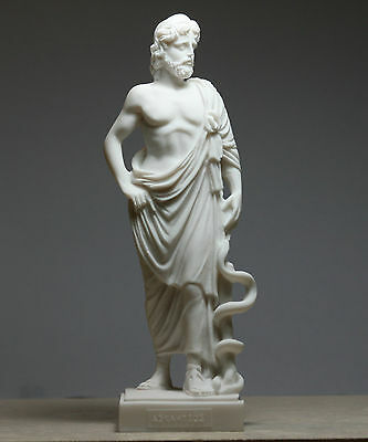 Asclepius Greek God of Medicine & Physicians Handmade Statue Sculpture 8.8΄΄