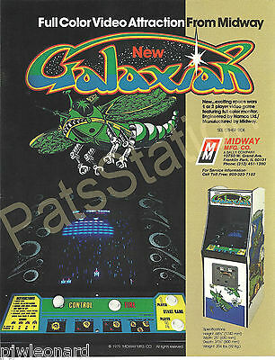 GALAXIAN, Upright - Video Game Flyer by Midway