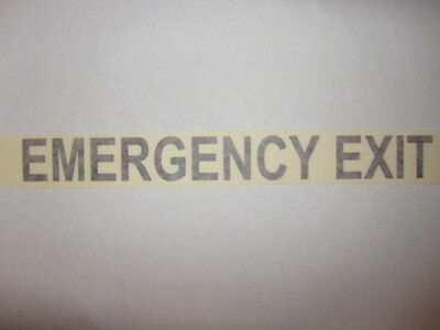 Bus Coach PSV Legal Lettering Writing ' EMERGENCY EXIT '