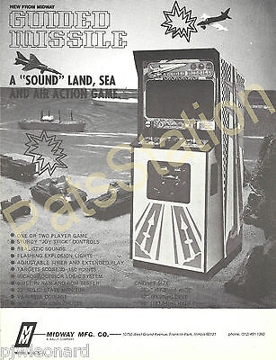 GUIDED MISSILE - Video Game Flyer by Midway