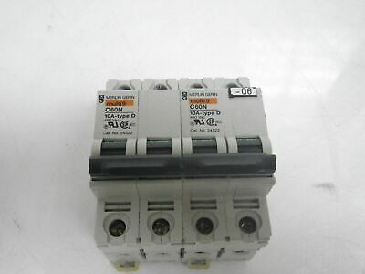 MERLIN GERIN C60N 10A-TYPE D multi9 circuit breaker LOT OF 2 *USED AND TESTED*