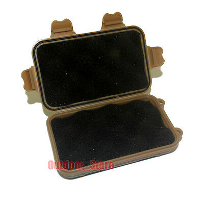 1pcs Outdoor Survival Waterproof shockproof Case Sealed Box - Tan