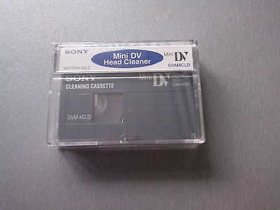 Mini DV Cleaning Cassette Tape Sony DVM4CLD2 For Camcorder Head Cleaning