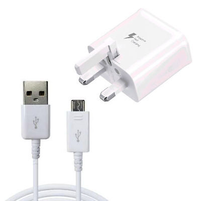 Micro USB Cable / Adaptive Fast Charger For Samsung Galaxy S5 S6 S7 Edge Note