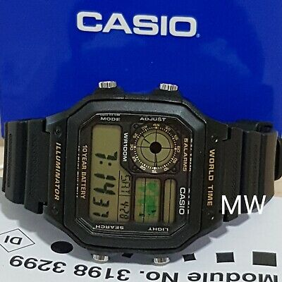 Latest Casio AE-1200WH-1B Resin Digital World Time Mens 100M Sports Alarms Watch