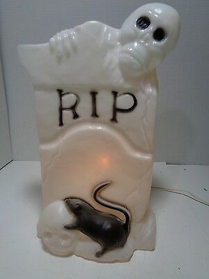 "Halloween Tombstone with Ghost and Rat TPI - 23""  Cord& Light&Bulb"