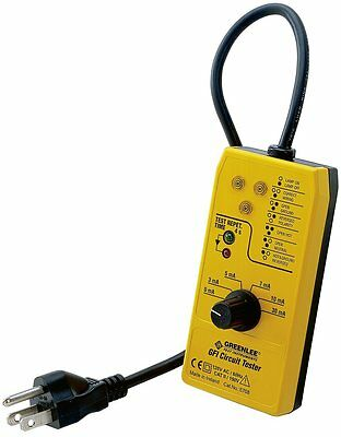 NEW GREENLEE - 5708 - RECEPTACLE TESTER w/ GFCI ( 120VAC )