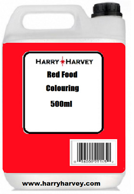 500ml Christmas RED FOOD COLOURING Colour Dye liquid CATERING bulk trade pack 1