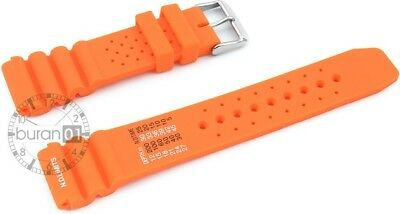Uhrenarmband - Kautschuk/Silikon - Sport   orange 18mm 20mm 22mm 24mm