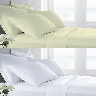 Luxury Egyptian Cotton 400TC Fitted Sheet Extra Deep or Flat Sheet all Sizes