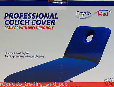 Physio Med Couch/Table Cover Royal Blue Massage & Medical Treatment NO FACE HOLE