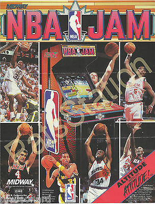 NBA JAM - Video Game Flyer by Midway and Licensed by NBA