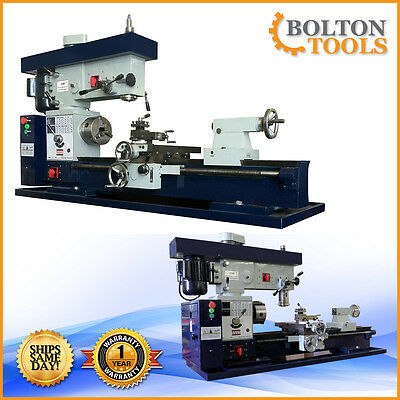 """Bolton Tools 12"""" x 36"""" Metal Lathe Mill Drill Milling Combo Machine AT400 METRIC"""