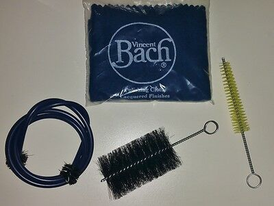 BACH Bore Cleaner Snake Valve Casing Mouthpiece Brush Polishing Cleaning Cloth