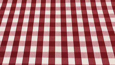 """Waverly Picnic Red White Checker #53242 Multiuse Fabric By The Yard 62"""" Wide"""