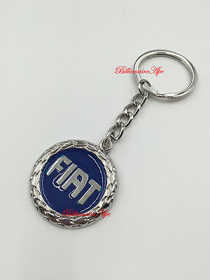 Fiat Keyring Abarth 500 Punto Bravo Stainless Car Key Ring Fob Keyring Key Chain