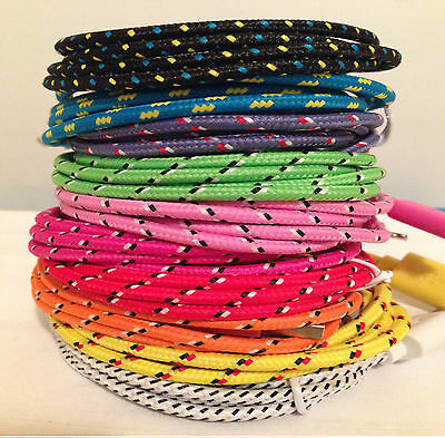 High Quality Braided Colorful USB Cable Charger Sync Cord for iPhone 7 lot 1c