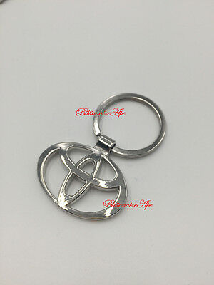 Toyota Keyring Stainless Branded 3D Car Logo Fob Key Ring Keyrings Key Chain